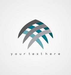 Sign abstract fish logo vector