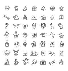 small christmas icons set on vector image