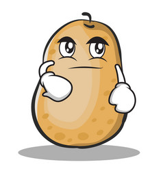 Smirking potato character cartoon style vector