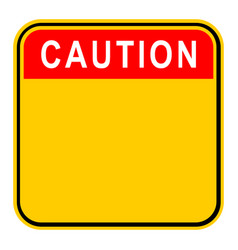 Sticker caution safety sign vector