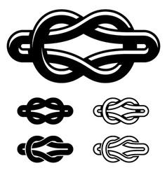 Unity knot black white symbols vector