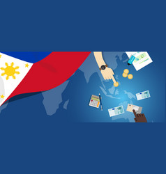 Philippines economy fiscal money trade concept vector