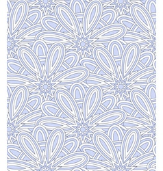Blue ethnic shell pattern vector
