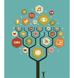 Web marketing business tree plan vector
