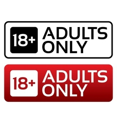 Adults only content button age limit stamp vector