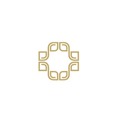 Abstract luxury logo design template vector