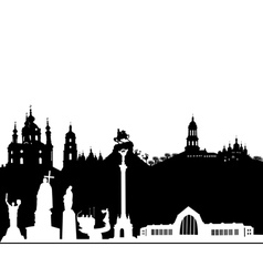 Kiev silhouette on a white background vector