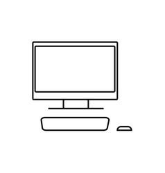 desktop computer with monitor icon vector image