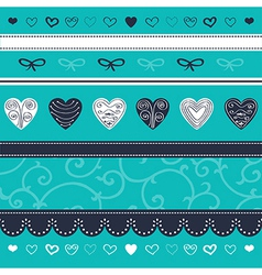 Turquoise floral ornament vector