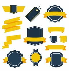Stickers and badges set 2 flat style vector