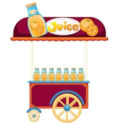 A pushcart selling orange juice vector image