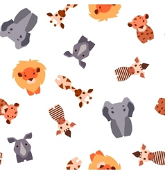 Seamless pattern with safari animals vector