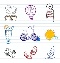Summer doodles vector