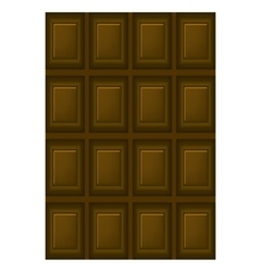 Milk chocolate bar vector