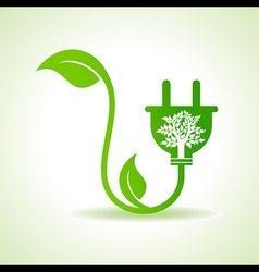 Ecology concept with electric plug vector