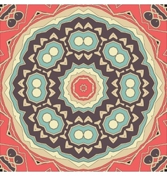 Stylized seamless mandala flower for greeting card vector