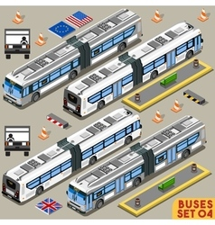 Bus set 04 vehicle isometric vector