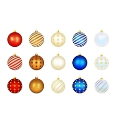 Set of color xmas balls vector