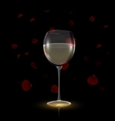 petals and white wine vector image