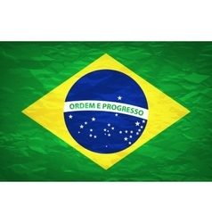 An old grunge flag of Brazil state vector image vector image