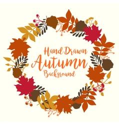 Beautiful autumn background vector