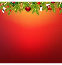 Christmas border with garland vector