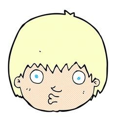 Comic cartoon curious boy vector