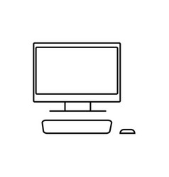 Desktop computer with monitor icon vector