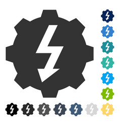 Electric gear icon vector