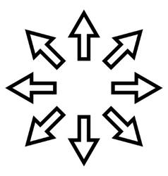Expand arrows contour icon vector
