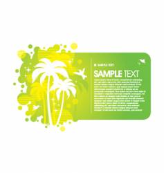 frame with tropical design vector image vector image