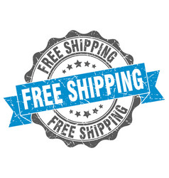 Free shipping stamp sign seal vector