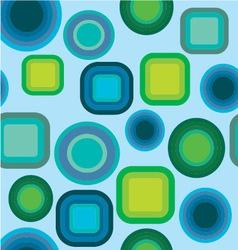Geometric pattern blue green vector