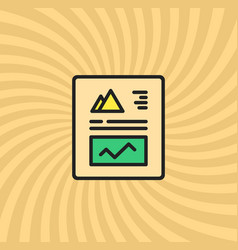 graphics and charts document icon vector image