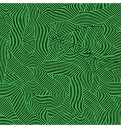 Green wave line pattern vector
