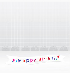 Happy birthday card backgrounds vector
