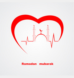 islamic heart vector image
