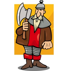 Knight with axe cartoon vector
