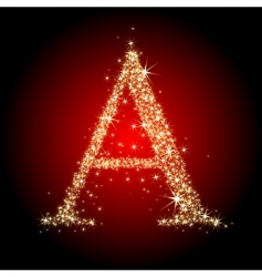 letter star vector image
