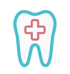 logo combination of medical cross and tooth vector image vector image