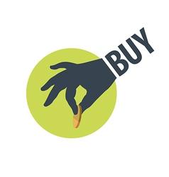 Logo hand holding a coin vector