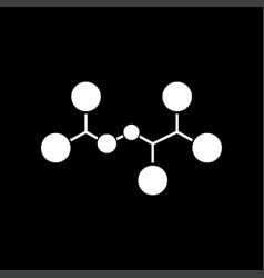 Molecule white color icon vector