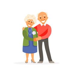 Older couple vector