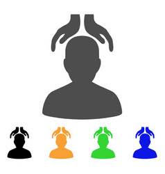 Psychiatry hands flat icon vector