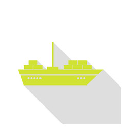 ship sign pear icon with flat style vector image vector image