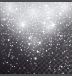 White falling stars light effect vector
