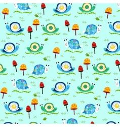 retro snail pattern vector image