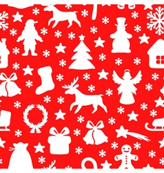 Christmas seamless red vector