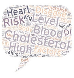 Why high blood cholesterol is dangerous text vector