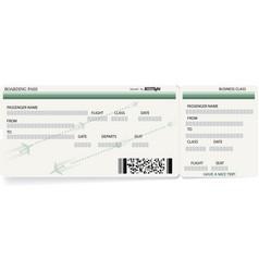 Green template of boarding pass ticket vector